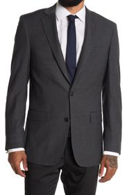 BROOKS BROTHERS Grey Stripe Two Button Notch Lapel