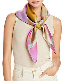 Echo - Blooming Floral Silk Square Scarf