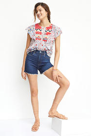 Anthropologie Paige Ultra High-Rise Frayed Denim S