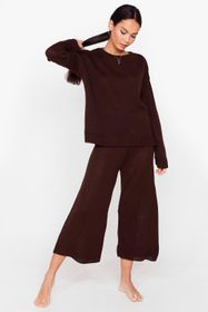 Nasty Gal Knitted Sweater and Culotte Pants Set
