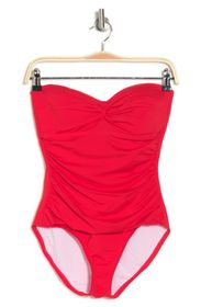 TOMMY BAHAMA Front Twist Shirred One-Piece Swimsui