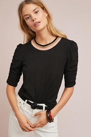 Anthropologie Judith Ruched Pullover