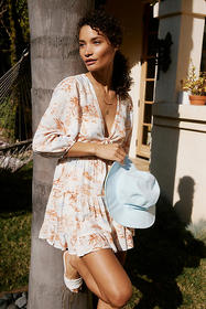 Anthropologie L Space Stay Golden Cover-Up Mini Dr