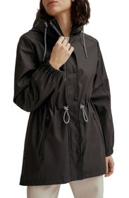 NOIZE Matte Finish Water Resistant Hooded Raincoat