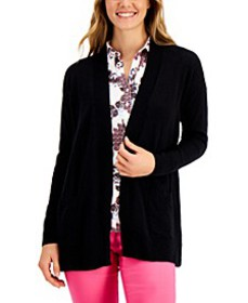 Cotton Open-Front Cardigan, Created for Macy's