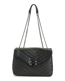 Made In Italy Leather Shoulder Bag