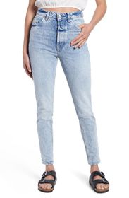 FREE PEOPLE Zuri Ultra High Waist Ankle Mom Jeans