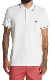 BROOKS BROTHERS Tipped Pique Knit Polo Shirt