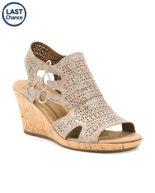 Wide Comfort Leather Wedges