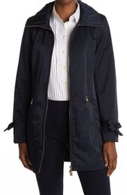 LONDON FOG Hooded Single Breasted Double Collar Co