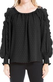 MAX STUDIO Ruched Long Sleeve Blouse