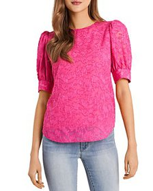 VINCE CAMUTO - Jacquard Puff Sleeve Top