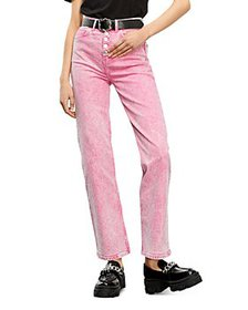 The Kooples - Straight Leg Jeans in Pink