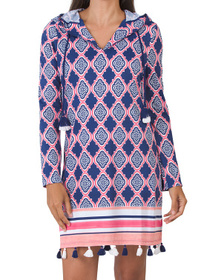 Upf 50 Geo Coverluxe Hooded Cover-up