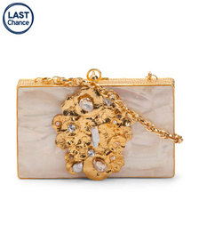 Boxed Handmade Minaudière Clutch With Shoulder St