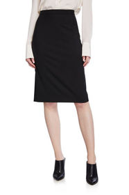 Theory Hemdall Traceable Wool Suiting Pencil Skirt