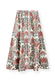 Brock Collection Pleated Floral-Print Cotton Midi