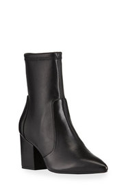 Stuart Weitzman Vernell Stretch Leather Ankle Boot
