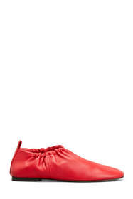 3.1 Phillip Lim Ruched Leather Flat Loafer Slipper