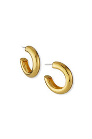 Kenneth Jay Lane Yellow Gold-Plated Clip-On Hoop E