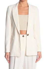 TOPSHOP Lily Solid Twill Single Button Blazer