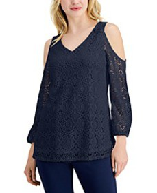 Lace Cold-Shoulder Top, Created for Macy's