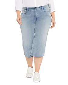 NYDJ Plus - Wide Leg Pedal Pusher Jeans in Clean A