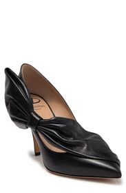VALENTINO Leather Bow Pointed Toe Pump