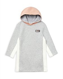Lacoste - Girls' Cotton Blend Color Blocked Hooded