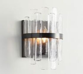 Pottery Barn Sander Staggered Glass Sconce