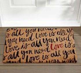 Pottery Barn Love Is All You Need Doormat