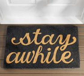 Pottery Barn Stay Awhile Doormat