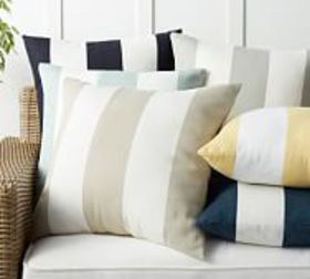 Pottery Barn Classic Striped Indoor/Outdoor Pillow