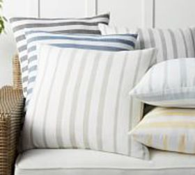 Pottery Barn Leandra Striped Reversible Indoor/Out