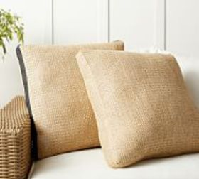 Pottery Barn Faux Natural Fiber Gusset Indoor/Outd