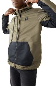 TRUE RELIGION Water-Repellent Colorblock Hooded Wi