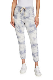 Enza Costa Marbled French Terry Jogger Pants