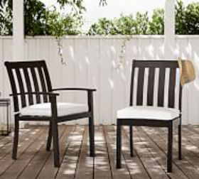 Pottery Barn Chatham Metal Stackable Dining & Armc