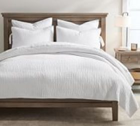 Pottery Barn Pick-Stitch Handcrafted Cotton/Linen