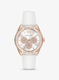 Michael Kors Oversized Sport Rose Gold-Tone and Si