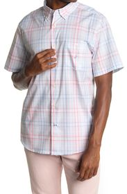 NAUTICA Navtech Plaid Short Sleeve Button Front Dr
