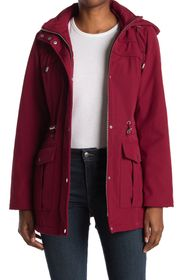 VINCE CAMUTO Hooded Zip Front Jacket