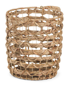 Small X Weave Storage Basket With Handles