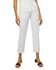 7 For All Mankind - Cropped Straight Leg Jeans