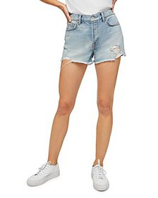7 For All Mankind - Monroe Cutoff Jean Shorts in C