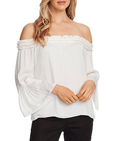 VINCE CAMUTO - Ruffled Off-the-Shoulder Blouse