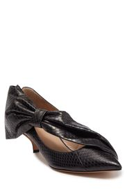 VALENTINO Snake Embossed Bow Pump