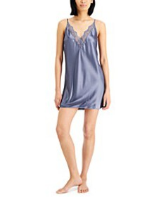 Lace-Trim Satin Chemise Nightgown, Created for Mac