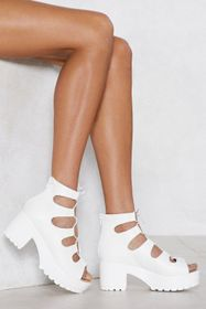 Nasty Gal Open Toe Lace Up Heeled Sandals