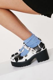 Nasty Gal Cow Print T-Bar Mary Janes